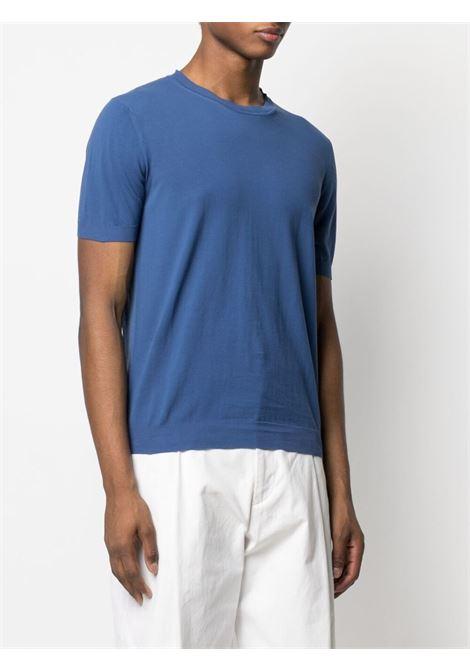 T-shirt blu in cotone a maglia fine ALTEA | Maglieria | 215102104