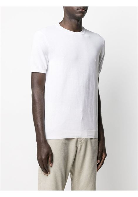 White cotton fitted-cuff T-shirt  ALTEA |  | 215102129
