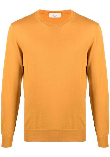 Maglione girocollo in maglia di cotone arancio calendula ALTEA | Maglieria | 215102665