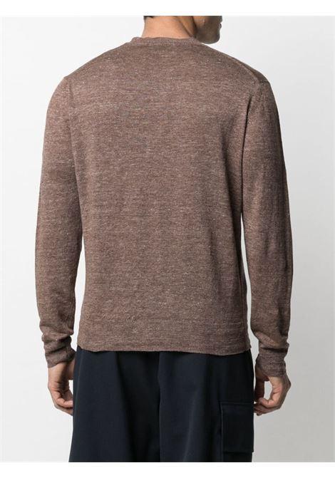 Maglione girocollo in lino color tortora ALTEA | Maglieria | 215105438