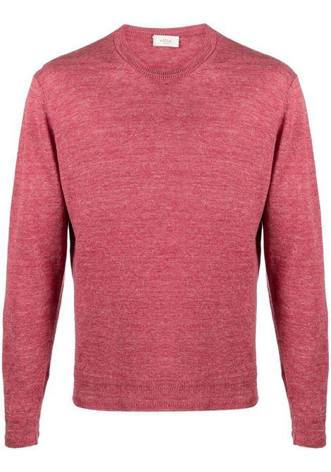Maglione girocollo in maglia di lino rosso cremisi ALTEA | Maglieria | 215105471