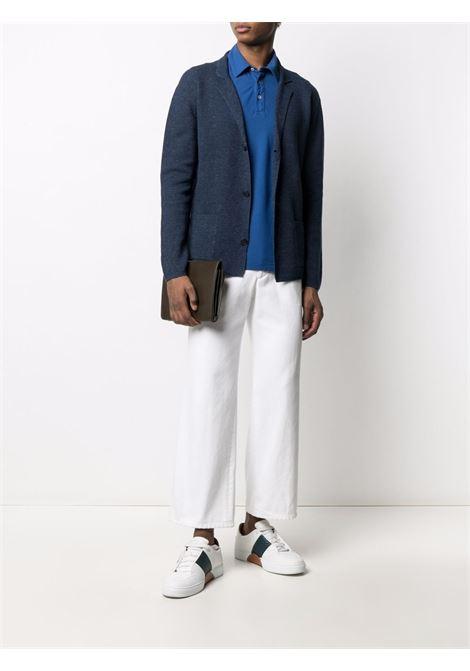 Cardigan in maglia di cotone-lino blu navy ALTEA   Giacche   215117110
