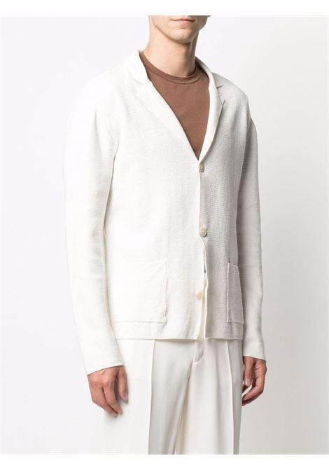 Cardigan in maglia con bottoni in misto cotone e lino bianco ALTEA   Giacche   215117127