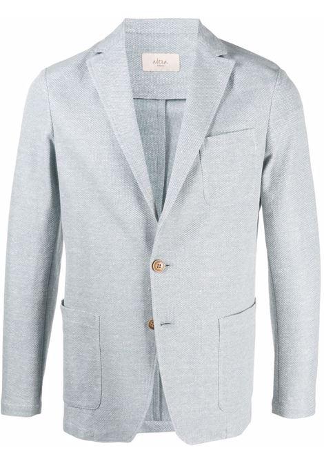 Giacca monopetto azzurra in cotone e lino ALTEA | Giacche | 215230413
