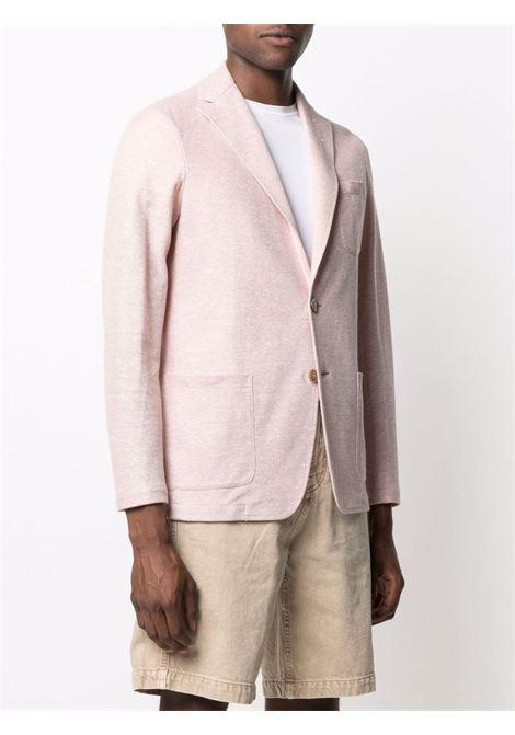 Giacca monopetto in cotone e lino rosa chiaro ALTEA | Giacche | 215230482