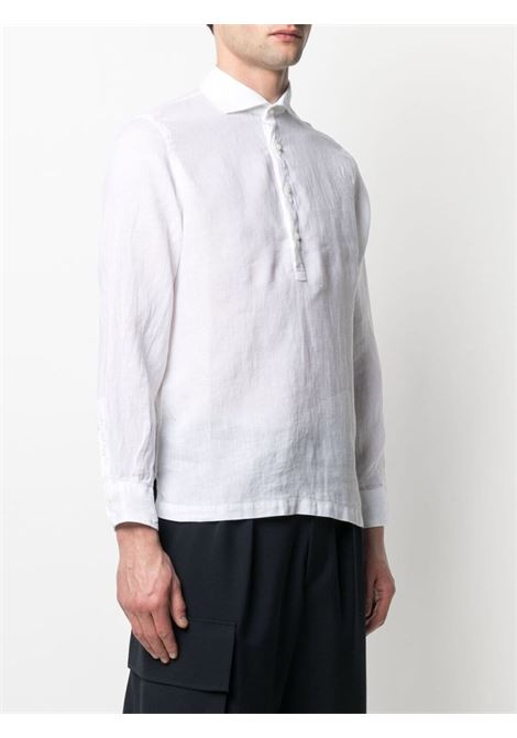 White linen button-placket shirt featuring classic collar ALTEA |  | 215400229