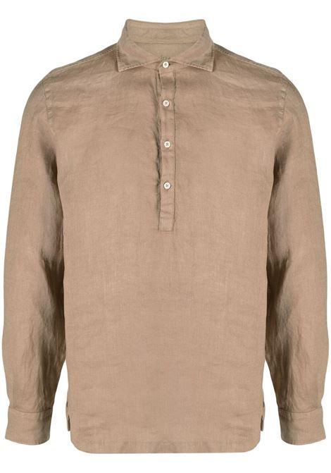 camicia in lino beige a maniche lunghe ALTEA | Camicie | 215400234