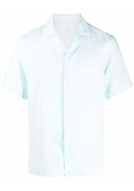 Camicia a maniche corte in lino celeste ALTEA | Camicie | 215400341