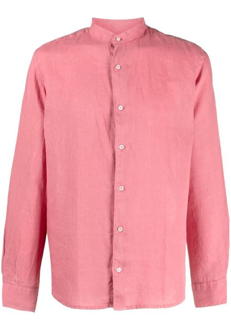 Camicia rosa rosa in lino con colletto alla corena ALTEA | Camicie | 215400468