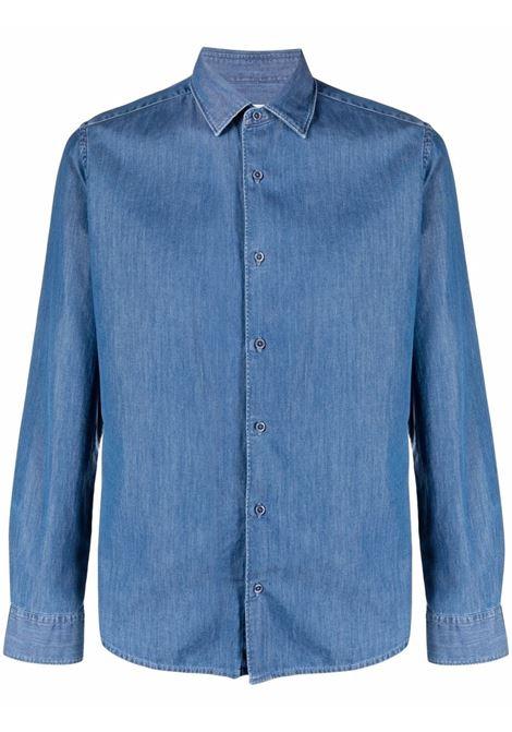 Camicia in denim di cotone blu scuro ALTEA | Camicie | 215412312