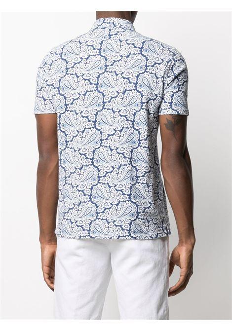 Blue cotton paisley-print shortsleeved polo shirt  ALTEA |  | 215507101