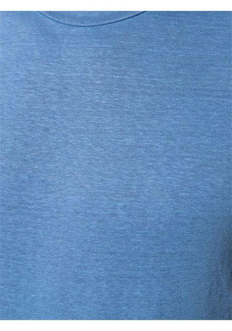 T-shirt in lino blu con girocollo ALTEA | T-shirt | 215521914