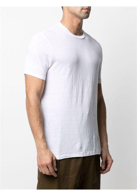 T-shirt in lino bianco con girocollo, maniche corte e orlo dritto ALTEA | T-shirt | 215521929