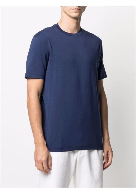 T-Shirt girocollo in cotone elasticizzato blu navy ALTEA | T-shirt | 215524002