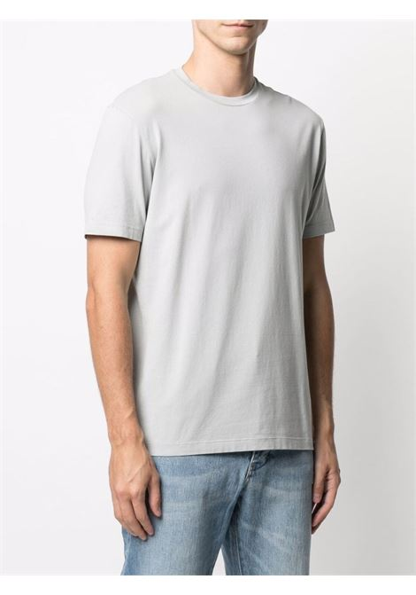 t-shirt girocollo in cotone stretch grigio chiaro ALTEA   T-shirt   215524023