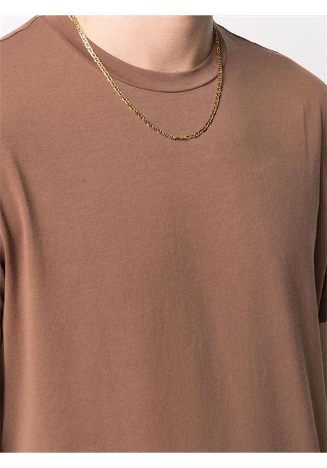 T-Shirt girocollo elasticizzata in cotone marrone ALTEA   T-shirt   215524038