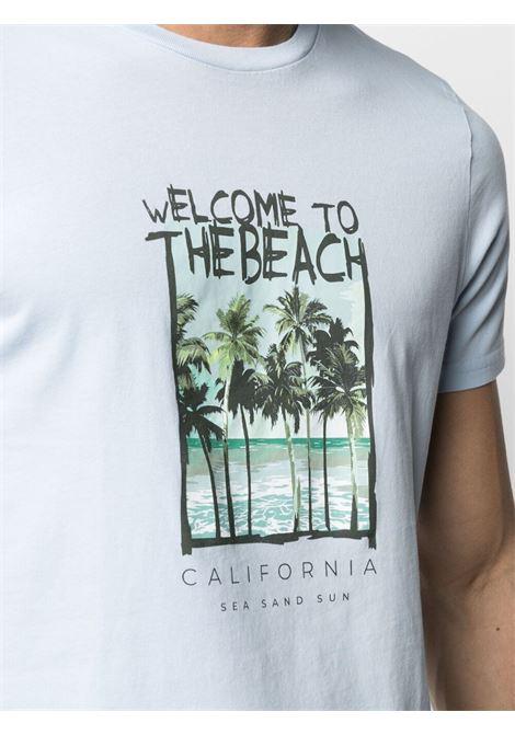 t-shirt celeste in cotone con stampa grafica ALTEA   T-shirt   215525112