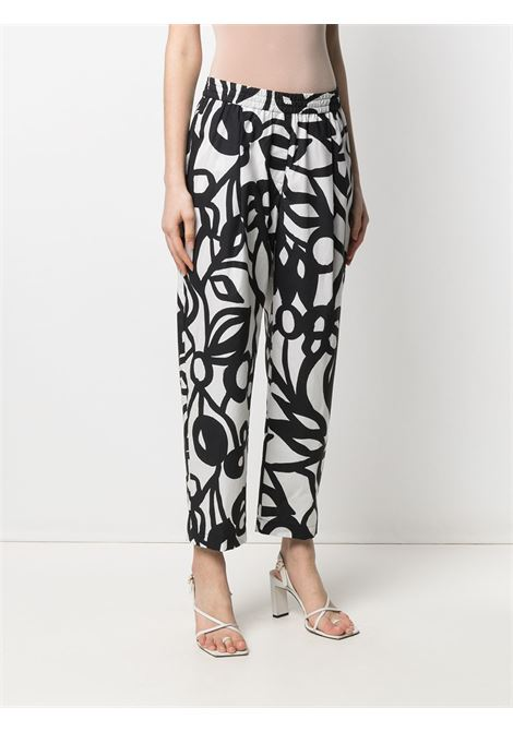 White and black cotton 60ies print trousers  ASPESI |  | 0107-F28861241