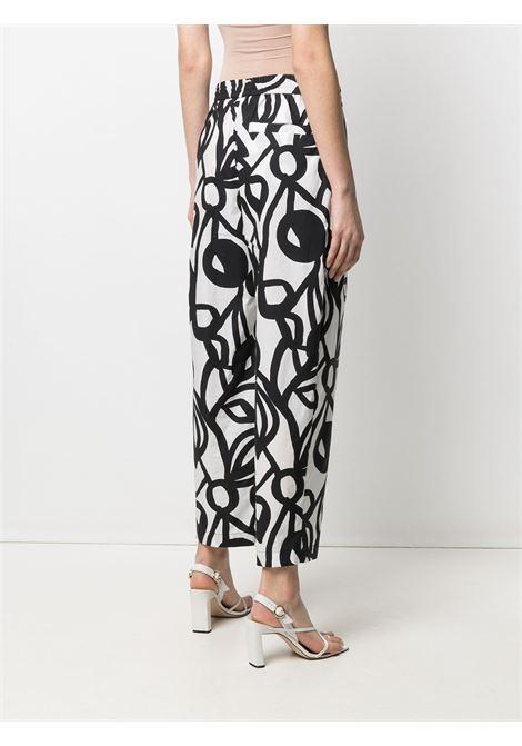 Pantaloni bianchi e neri in cotone con stampa anni '60 ASPESI | Pantaloni | 0107-F28861241