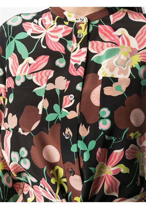 Black silk maxi dress featuring all-over floral print ASPESI |  | 2916-F28561241