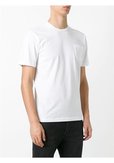 White cotton patch pocket T-shirt  ASPESI |  | 3107-A33501072