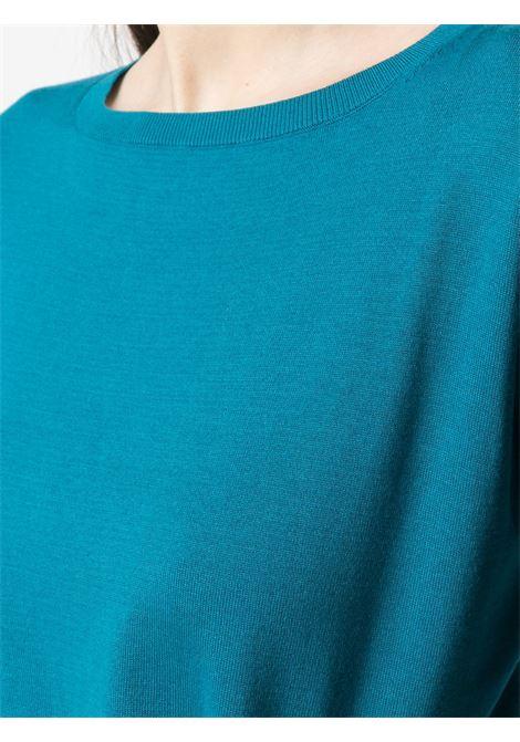 Maglia a maniche lunghe in cotone blu ceruleo ASPESI | Maglieria | 3702-337101057