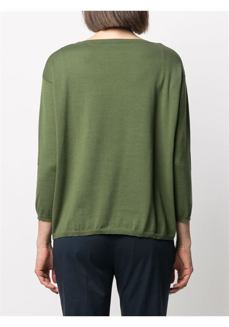 Forest green cotton round neck jumper  ASPESI |  | 3702-337101388
