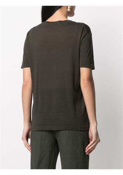 Green cotton fine knit T-shirt ASPESI |  | 4040-496501237