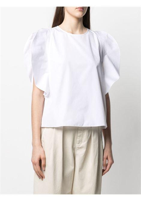White cotton slit-sleeved blouse  ASPESI |  | 5607-130785072
