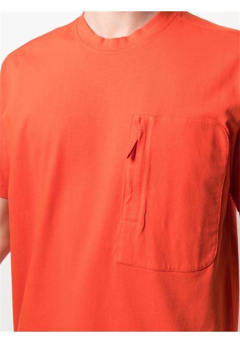 t.shirt in cotone arancione corallo con taschino  con zip verticale ASPESI | T-shirt | AY43-G45401301