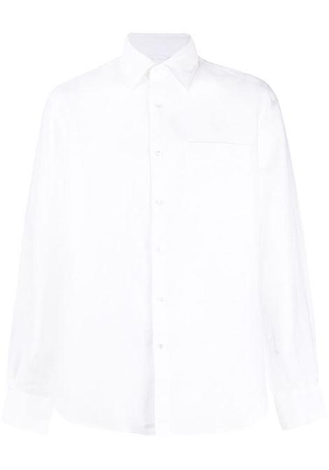 Camicia bianca in lino a maniche lunghe con colletto classico ASPESI | Camicie | CE36-C19585072