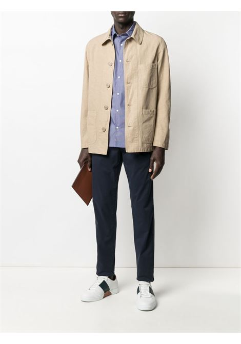 Beige cotton and linen button-down jacket  ASPESI |  | CJ70-G43485047