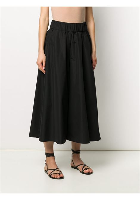 Black cotton high waisted palazzo pants featuring an elasticated waistband ASPESI |  | H114-D30785241