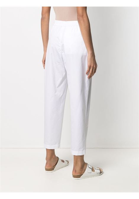 White cropped tapered cotton trousers featuring pleat detailing ASPESI |  | H115-D30785072