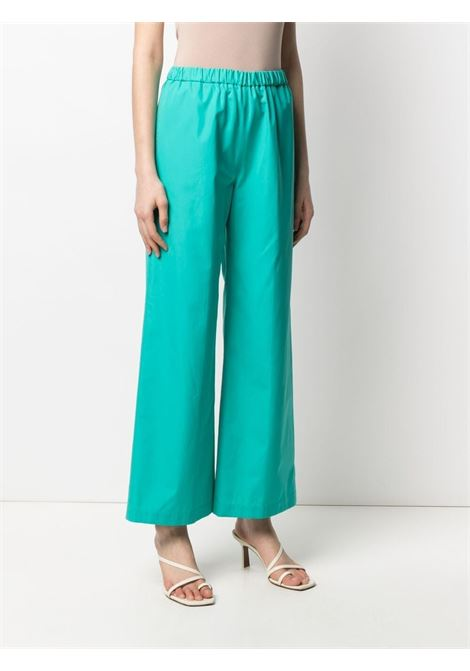 green cotton wide leg trousers featuring an elasticated waistband ASPESI |  | H128-D30785006