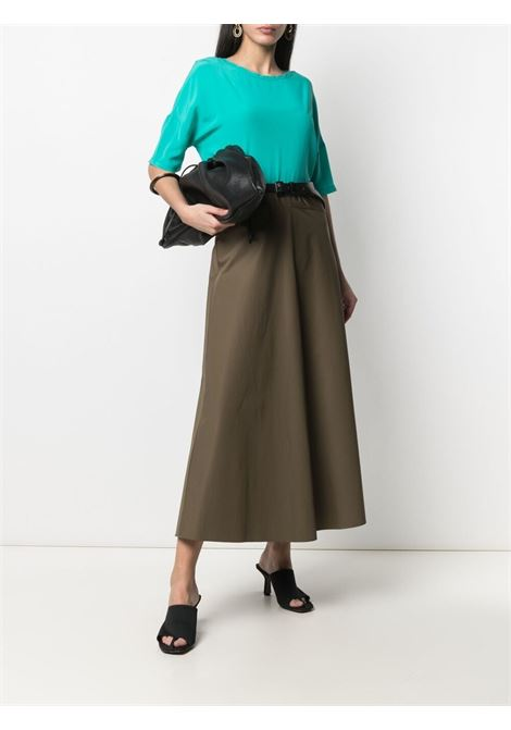 Khaki green cotton elasticated waistband skirt  ASPESI |  | H507-D30785237
