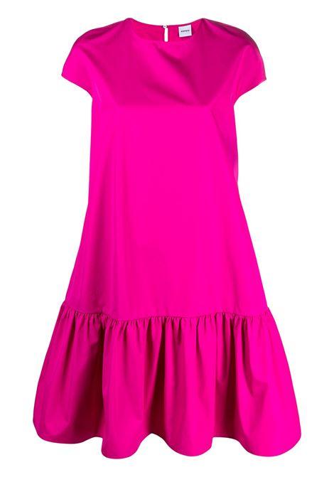Abito midi in cotone rosa con orlo arricciato ASPESI | Abiti | H607-D30785254