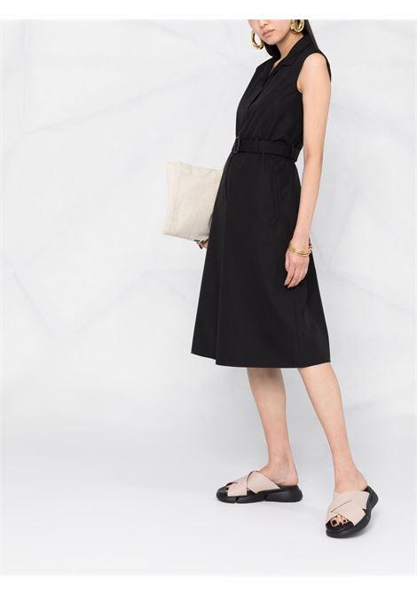 Abito chemisier nero in cotone con cintura e design svasato ASPESI | Abiti | H609-D30785241