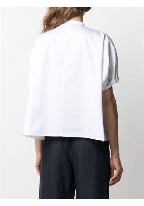 White cotton mandarin-collar shirt featuring  chest patch pocket ASPESI |  | H712-D30785072
