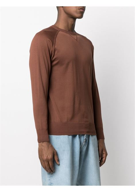 Terracotta brown cotton fine-knit jumper  ASPESI |  | M039-337101027