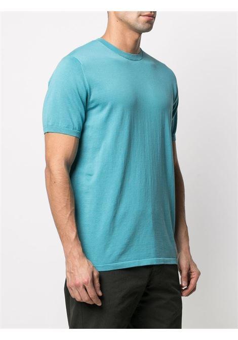 T-shirt a maniche corte in cotone blu turchese ASPESI | T-shirt | M149-337101337