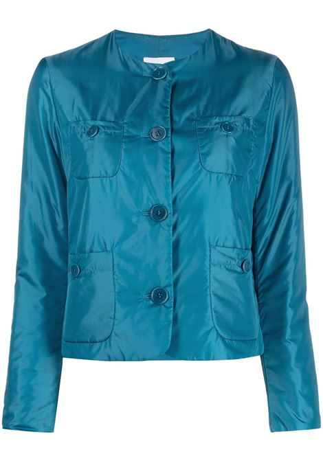 Blue collarless button-up jacket featuring front button fastening ASPESI |  | N064-796196068