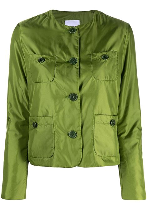 Bright green single-breasted tailored collarless jacket  ASPESI |  | N064-796196478