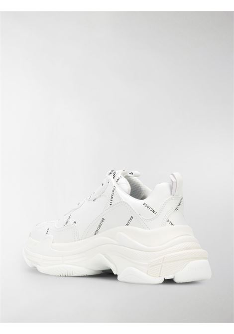 white Triple S sneakers featuring all over black Balenciaga logo BALENCIAGA |  | 524039-W2FA19010