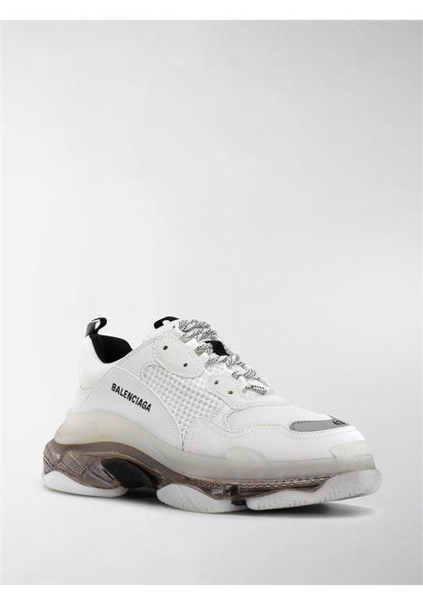 Sneakers Triple S in pelle bianca e grigia BALENCIAGA | Sneakers | 541624-W2GS19012
