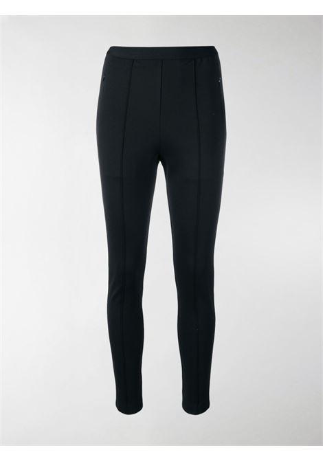 leggings nero con vita elasticcizzata e logo Balenciaga bianco BALENCIAGA | Pantaloni | 570789-TTK211000