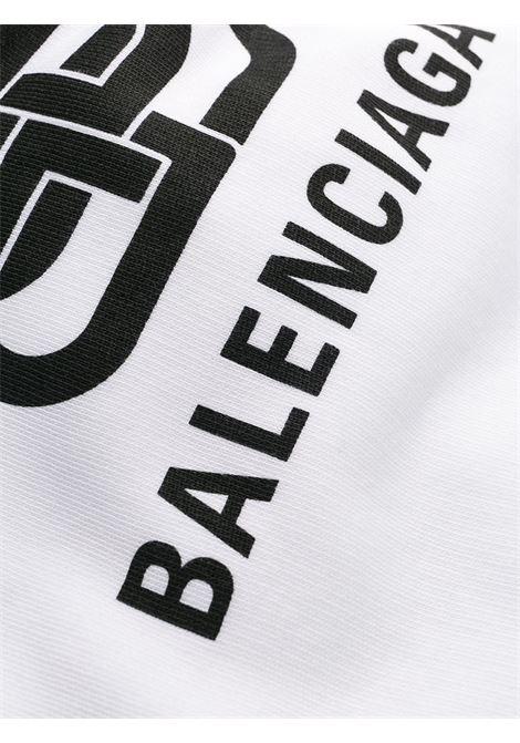 felpa oversize in cotone bianco con cappuccio e logo Balenciaga BALENCIAGA | Felpe | 570811-TEV199044