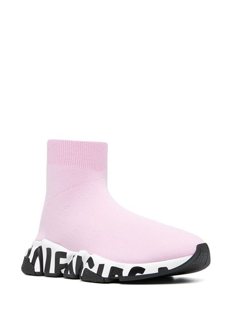 pink Speed Graffiti socks sneakers in stretch-knit  BALENCIAGA |  | 605942-W2DB75691