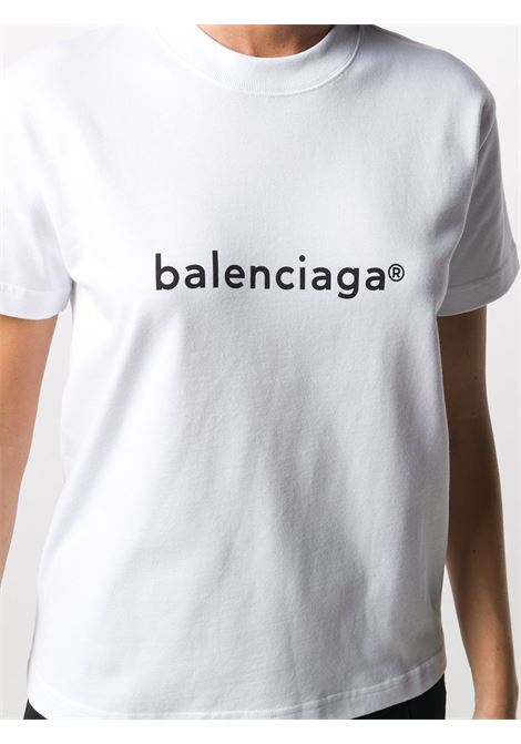 White cotton T-shirt featuring round neck BALENCIAGA |  | 612964-TIV549040