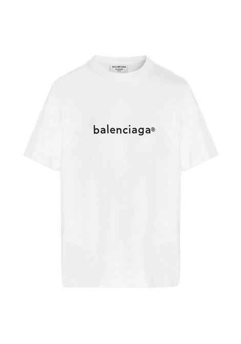 Oversized white cotton jersey T-shirt  BALENCIAGA |  | 612965-TIV549040